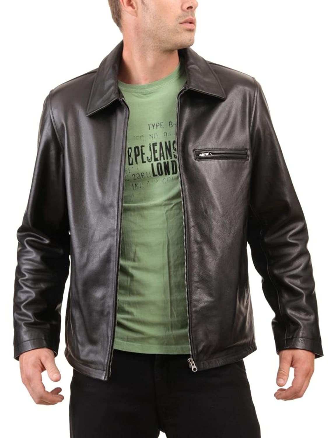 Men Leather Jacket Biker Motorcycle Coat Slim Fit Outwear Jackets AUK037