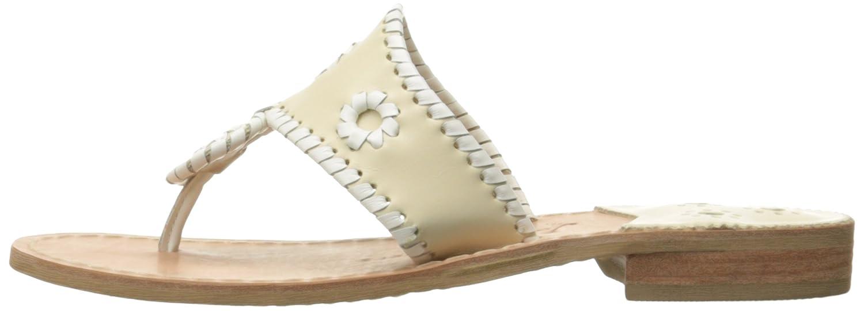 Jack Rogers Women's Palm Beach Wide Dress Sandal B00JBK3P9S 5.5 W US|Bone/White