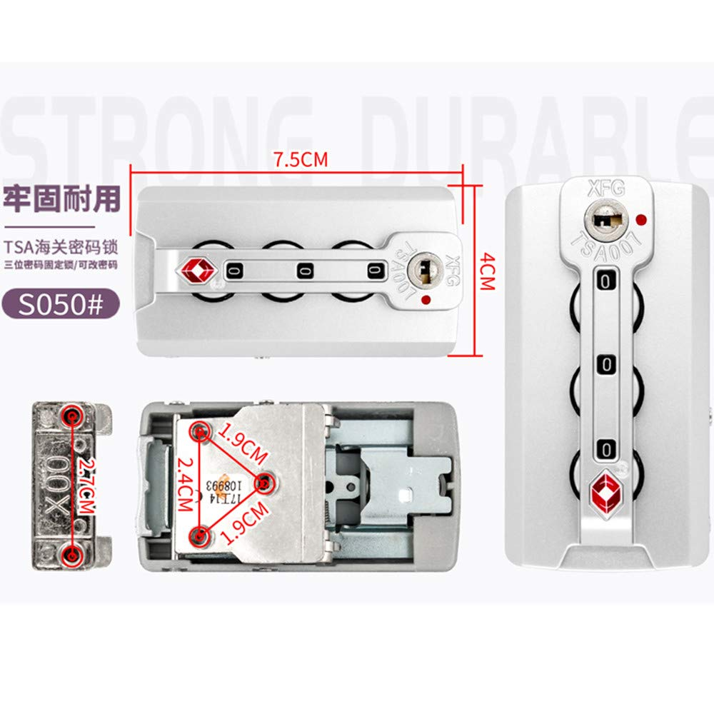 YF Set of A pair Travel Luggage//suitcases Password lock Replacement Accessories parts XFG S051