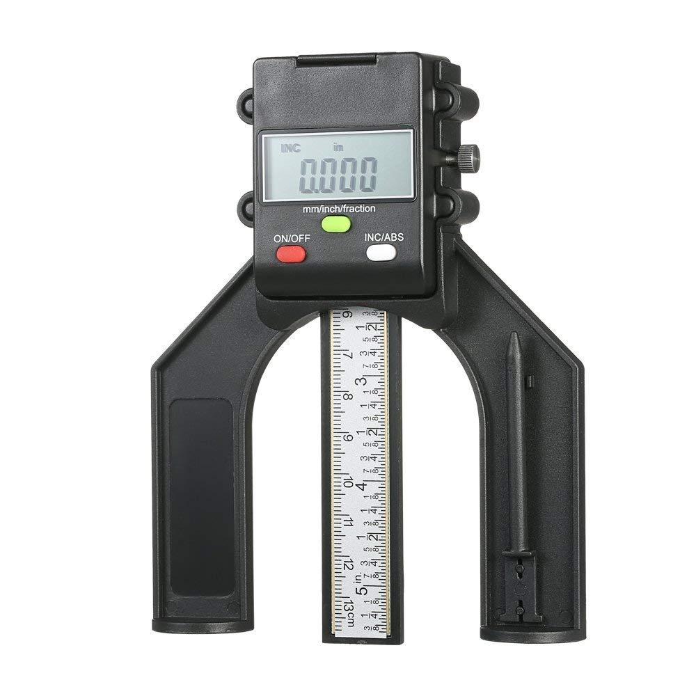 viti di bloccaggio per falegnameria Misuratore digitale per altezza da 0 a 130 mm con tre unit/à di misurazione con display LCD digitale da 0 a 130 mm