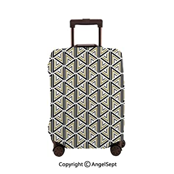 GIOVANIOR Hippie Henna Floral Luggage Cover Suitcase Protector Carry On Covers