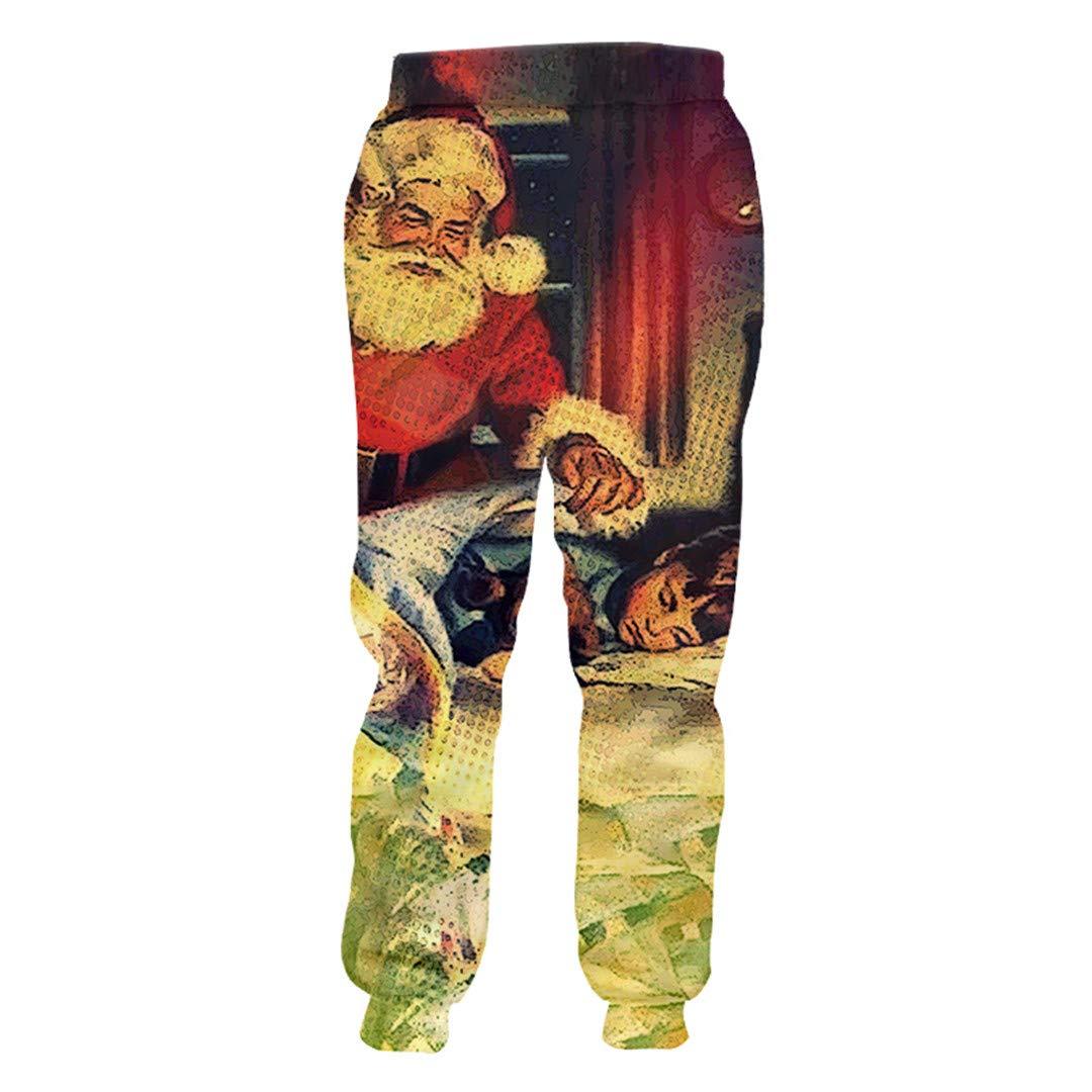 Ken-Rostisy Invierno Navidad Hombre Pantalones de chándal Impreso ...