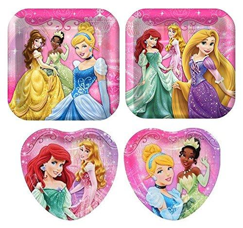 - Disney Princess Birthday Party Plate Bundle - 8 Dinner and 8 Dessert Plates