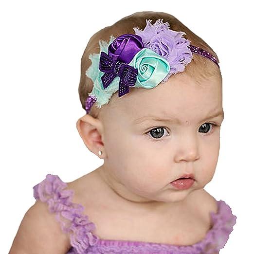 Amazon Com Miugle Baby Girls Flower Headband Baby Headbands