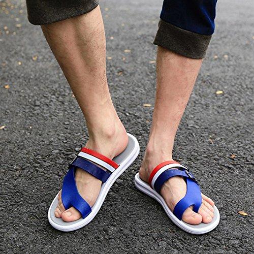 Sandales Dété Inkach - Sandales Flip-flops Mode Hommes Sandales Plage Décontractée Chaussures Plates Bleu