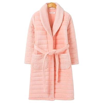 Automne et Hiver Plus Coton Chaud Lady Chemise de Nuit 3-épaississement Maison Vêtements Peignoir GAODUZI