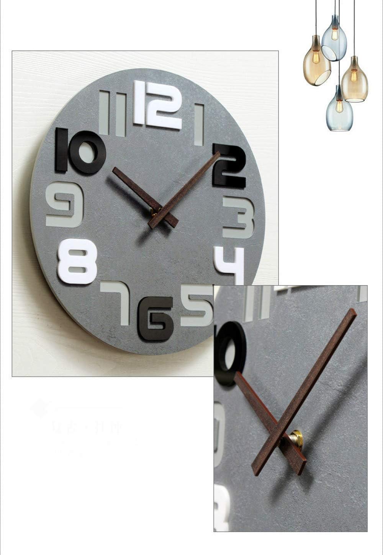 08 Caivowl Horloge Murale Horloge Murale Moderne Num/érique Calme sans Tique en Plastique Verre Salon Bureau Cuisine D/écoration Diam/ètre 30Cm Bleu
