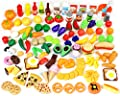 Play Food Set 135 Pieces Play Kitchen Set, Market Educational Pretend Play Food, Toddlers Inspires Imagination, Children Pretend Food Toys and Kid Food Playset Toys by Joyin Toy from Joyin Toy