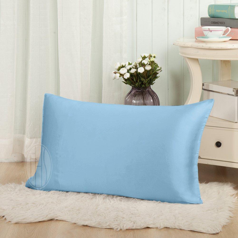Taihu Snow キング ライトブルー W01W07506c ブルー 19mm キング B016KBSF3G キング ライトブルー マルベリーシルク 枕カバー 髪とお肌の美容に