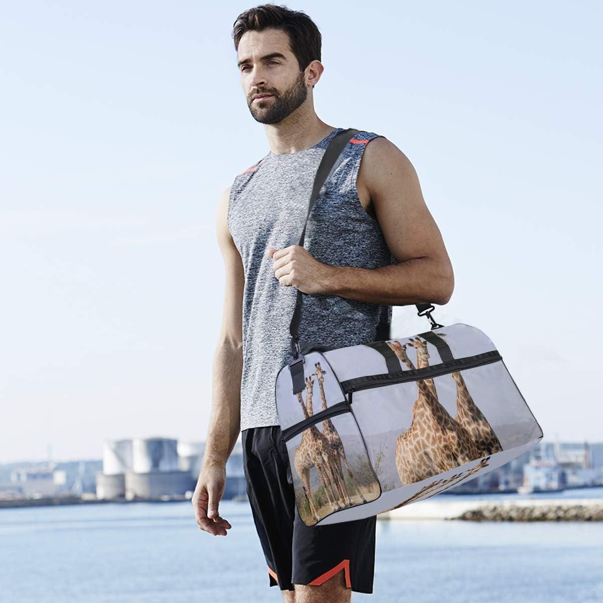 MALPLENA Animal Giraffe South Africa Packable Duffle Bag For Men Women Tear Resistant Sports Duffle