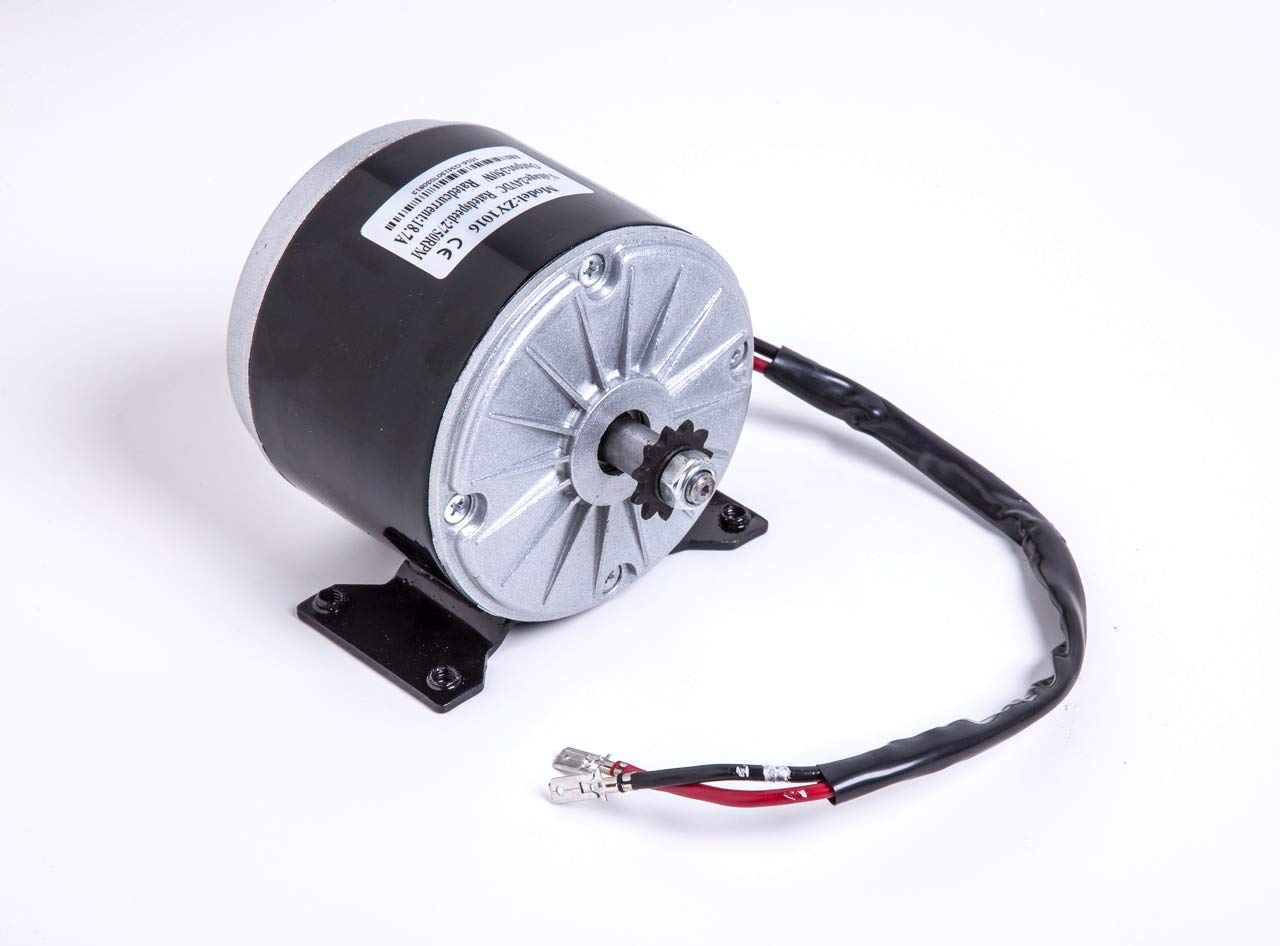 HiGear 150W Watt 24V Volt DC Brush Electric Motor #25 Chain 11T Sprocket Unite ZY6812 f Razor Scooter DIY Kids Kart 150-GM150115 Works with 12V by Alfa Wheels