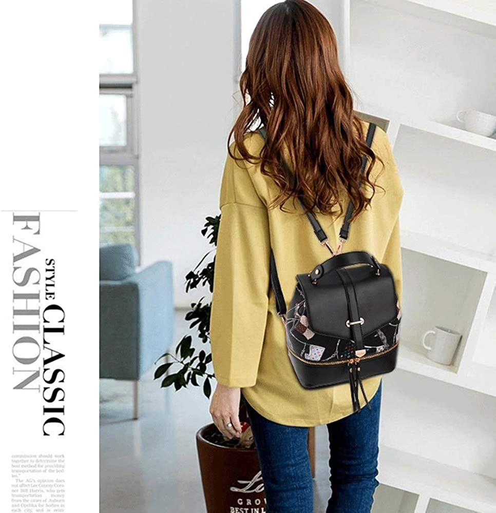 TRDyj Backpack Female Korean Version of The Trend of Small Bags Casual Students Multifunctional Wild Mini Backpack