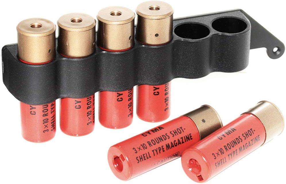 30rd jeder Airsoft Softair Parts CYMA 6pcs Kunststoff-Schrotflintenmagazin mit 6-Schalenhalterung aus Metall f/ür M870 Schrotflinte Shotgun