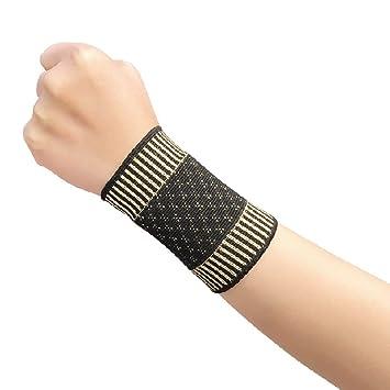 Amazon.com: Cobre Fibra muñequera fitness Yoga compresión ...