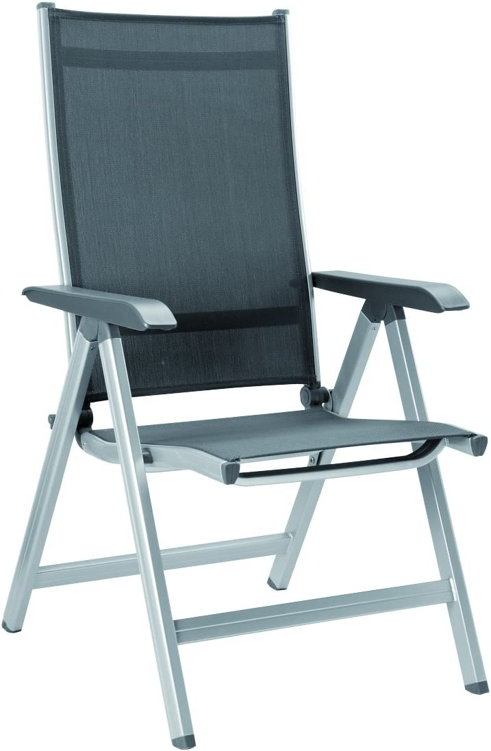 Kettler Basic Plus Folding Multiposition Chair – Silver GrayProduct Name