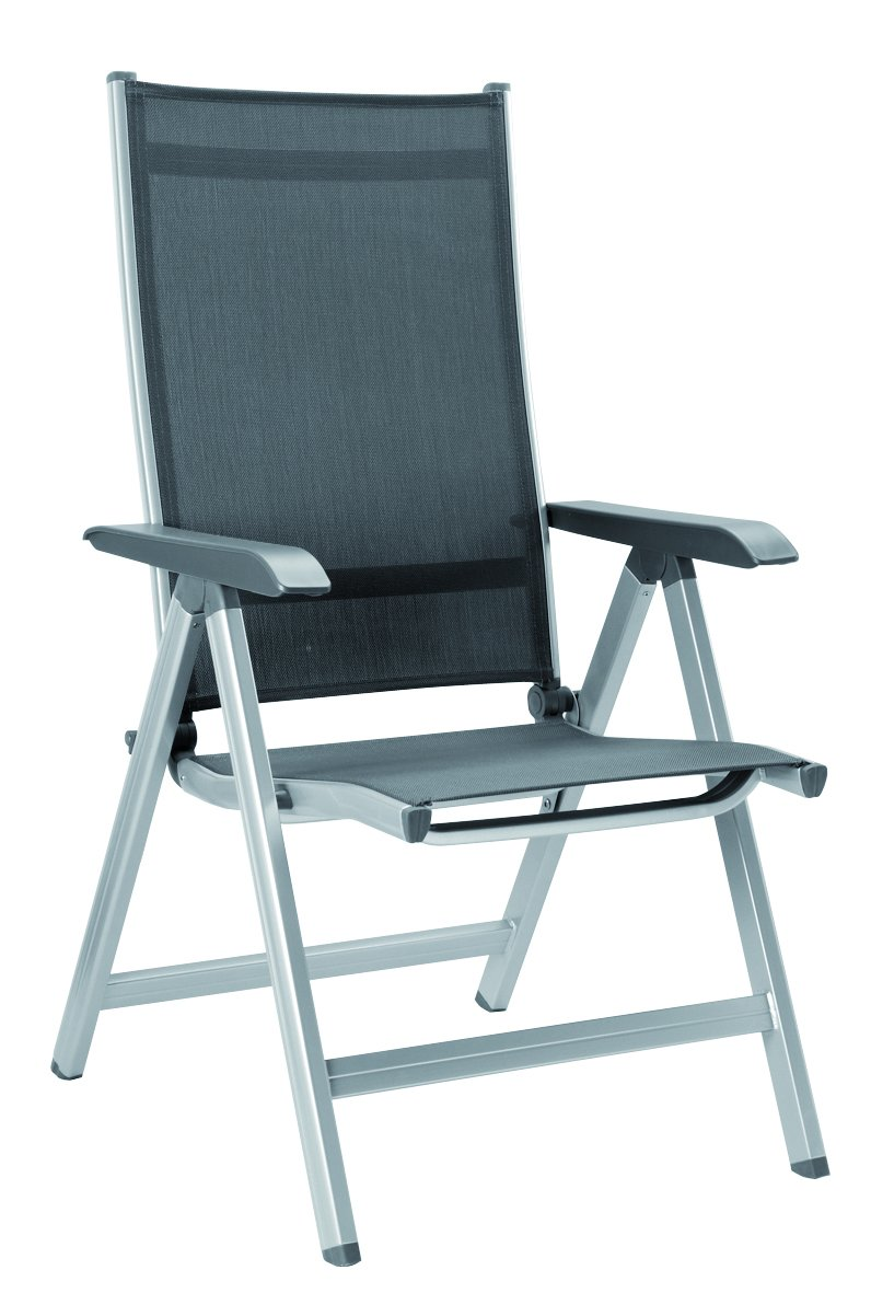 Kettler Basic Plus Folding Multiposition Chair – Silver Gray