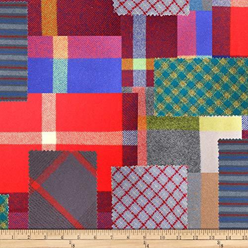 Hoffman Fabrics Hoffman Digital First Stitch Wool Patchwork Antique Fabric