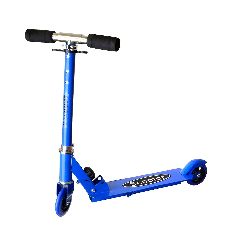 Scooter für Kinder, Kickboard, Tretroller, Klappbarer Roller, Leicht verstaubar, Zweirad, Neu Scooter für Kinder HSP Himoto h66 blue