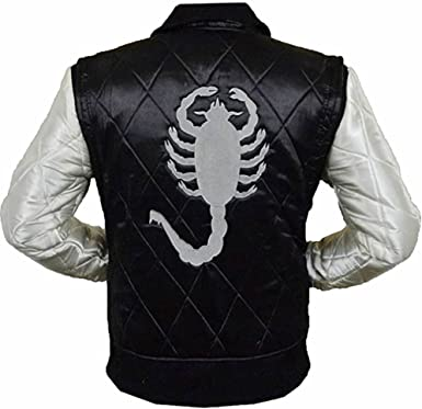 SleekHides Mens Fashion Bomber Jacket Scorpion Drive