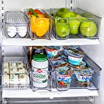 'Refrigerator Organizer set of 6 Storage Bins, Including Drink Holder and Egg Holding Tray, by Kitchen Shaq' from the web at 'https://images-na.ssl-images-amazon.com/images/I/61Xq8K3NbpL._AC_SR150,150_.jpg'