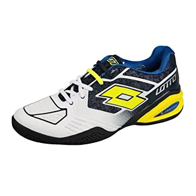 Mens Lotto Stratosphere II Speed All Court Shoe Men - White  Yellow - 11   Amazon.co.uk  Shoes   Bags b3a5830c32b
