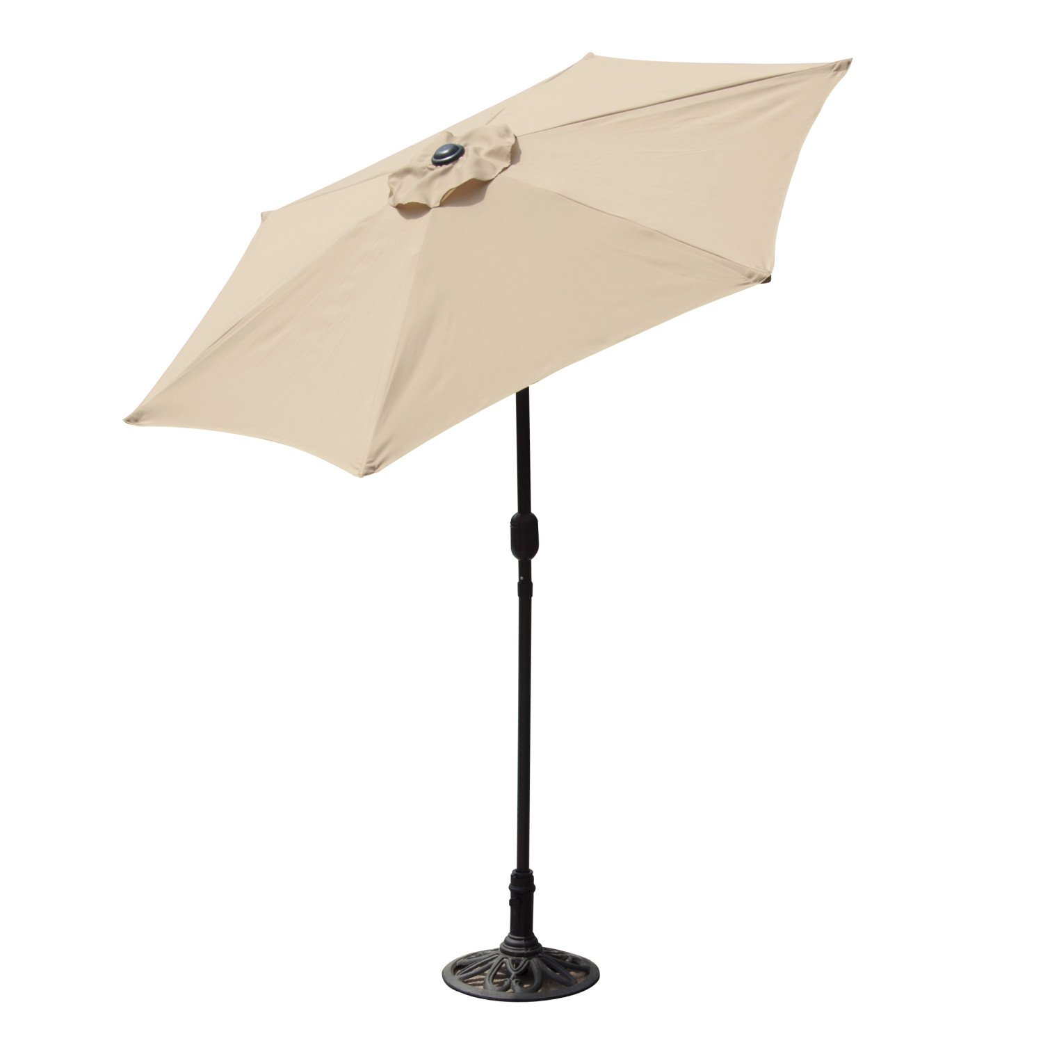 Budge Industries PATUA1100U Aluminum Patio Umbrella with Crank Lift and Tilt Function, 7-Feet, Burgundy