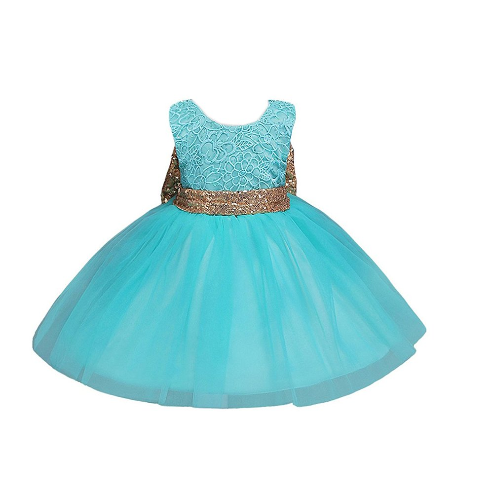 d354076283f8 Design:Knee length,blackless,gold sequined bowknot back waist,a  Line,sleeveless, fluff tulle tutu skirt ,o neck, fashion,flower girl dress