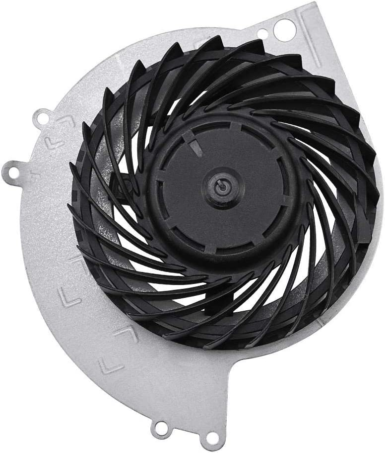 Richer-R Ventilador de CPU Portátil, Refrigerador CPU para PS4-1100,Disipador de Calor para CPU(Negro + Plata,ABS + Metal