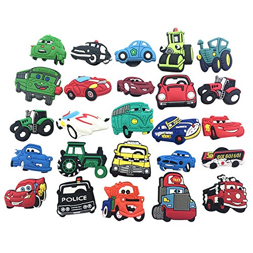 25pc Shoe Charms for Croc & Bracelet Wristband Kids Party Birthday Gifts #092 ()