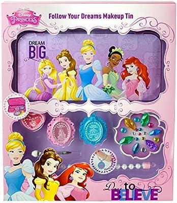 Disney Princesas Follow Your Dreams Makeup Tin, pack de maquillaje (Markwins 9603910): Amazon.es: Juguetes y juegos