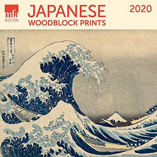 Japanese Woodblocks MFA Boston Wall Calendar 2020 Monthly January-December 12'' x 12
