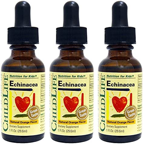 Child Life Echinacea, Glass Bottle, 1-Ounce 3 Pack