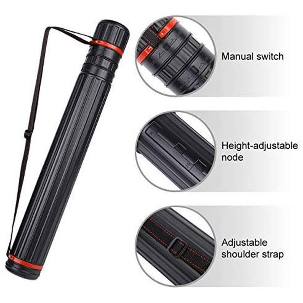 Easy Storage and Transport for Your Arrows MMJJQWE 2Pcs Outdoor Adjustable Telescopic Arrow Carrier Tube with 2 EVA Foam Arrow Protection Racks Holders