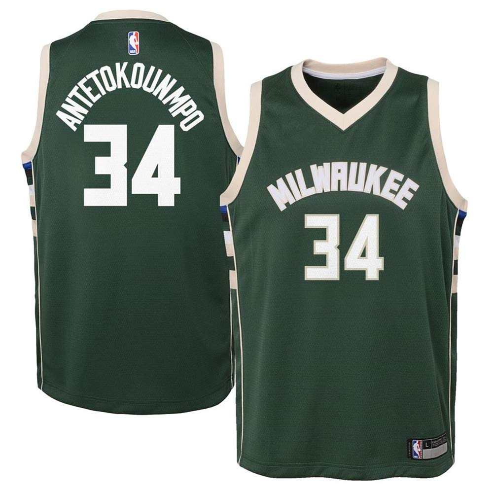 best service 4d3bc be0a7 Amazon.com: Youth Milwaukee Bucks #34 Giannis Antetokounmpo ...