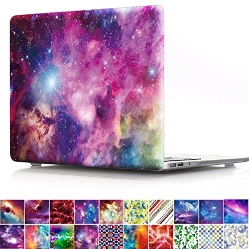 Macbook Pro 15 inch Retina Case, PapyHall Milky Way Galaxy Starry Sky Plastic Case Rubberized Hard Case Cover for MacBook Pro 15 inch with Retina Display Model: A1398 - Watercolor (Display Watercolor)