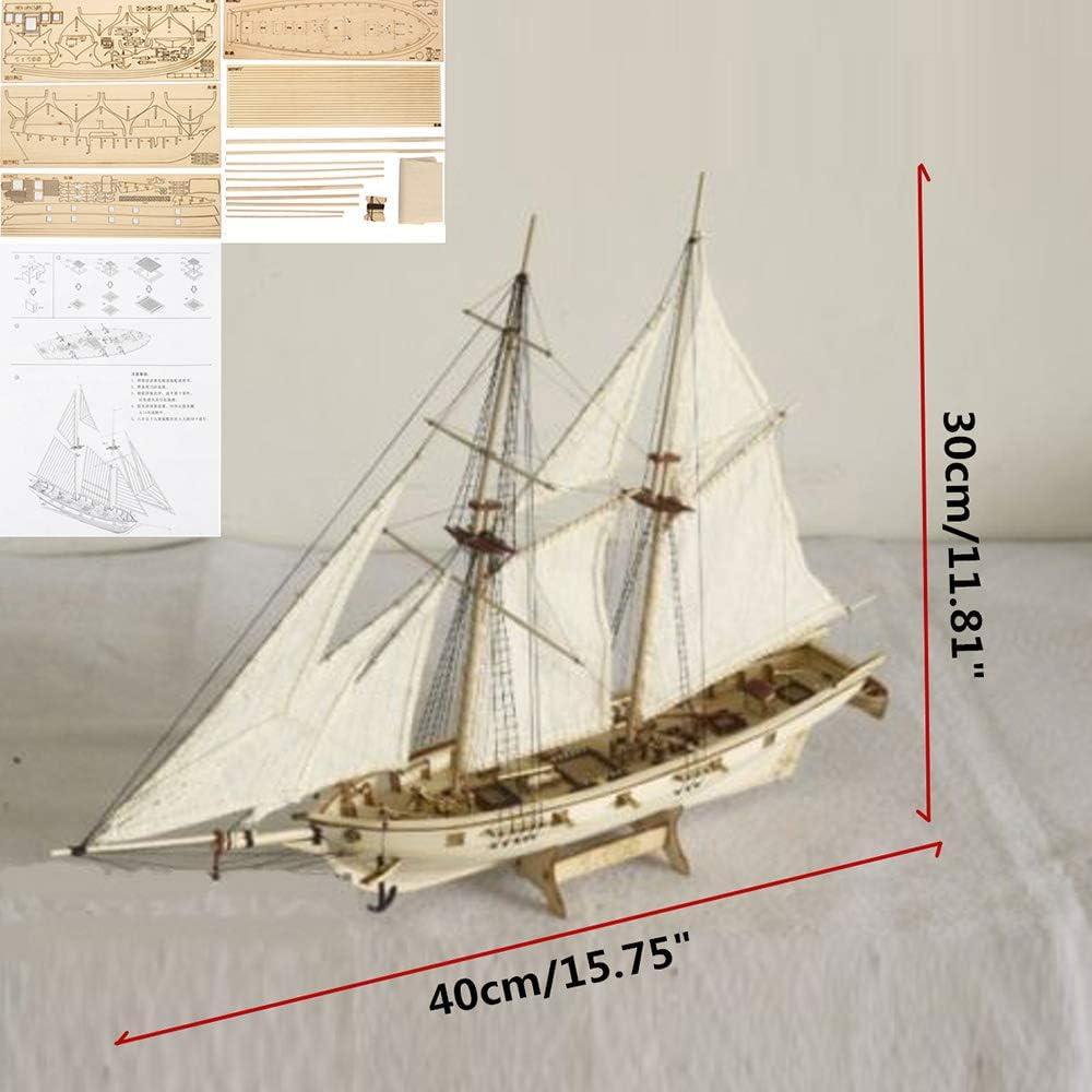 DIY Sailing Boat Model Ship Assembly Classical Wooden Decoration Wood Kits Gift