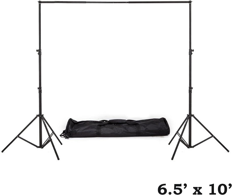 BLACK 8 x 10 ft Photo Backdrop Stand Kit Studio Stage Background Party Wedding