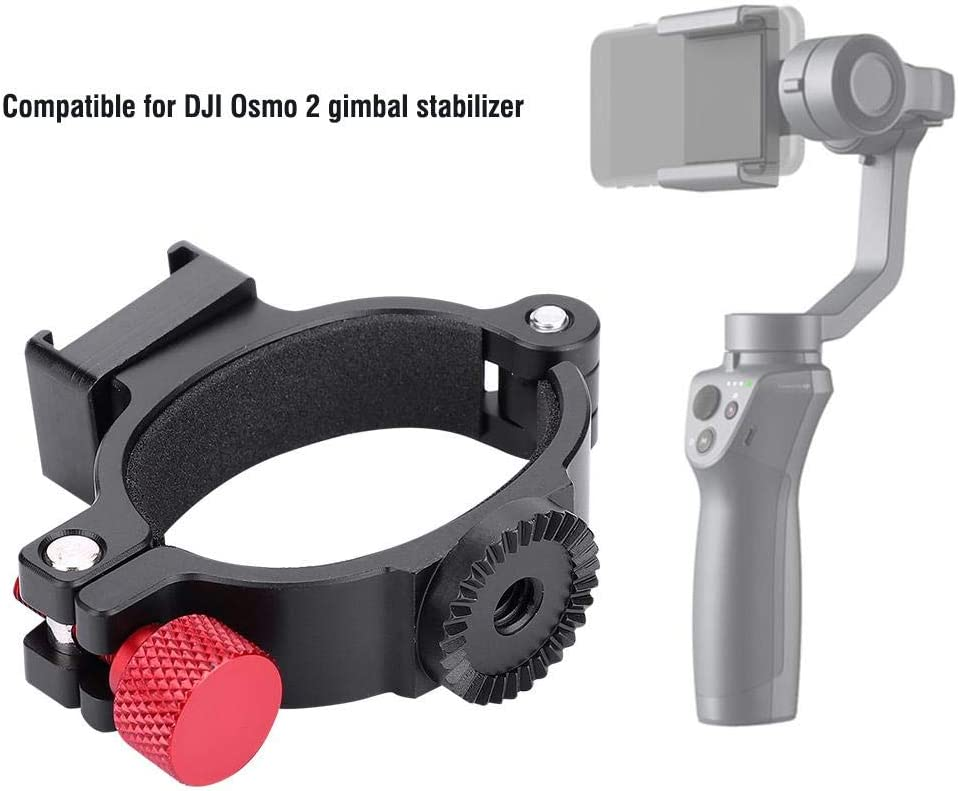 Serounder 1//4 Thread Stabilizer Extension Mounting Ring,Hot Shoe Adapter Bracket Photography Accessory Support LED Video Light,Video Microphone for DJI Osmo 2 Gimbal Stabilizer Accessory