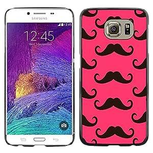 Cubierta protectora del caso de Shell Plástico || Samsung Galaxy S6 SM-G920 || Moustache Pink Alternative @XPTECH