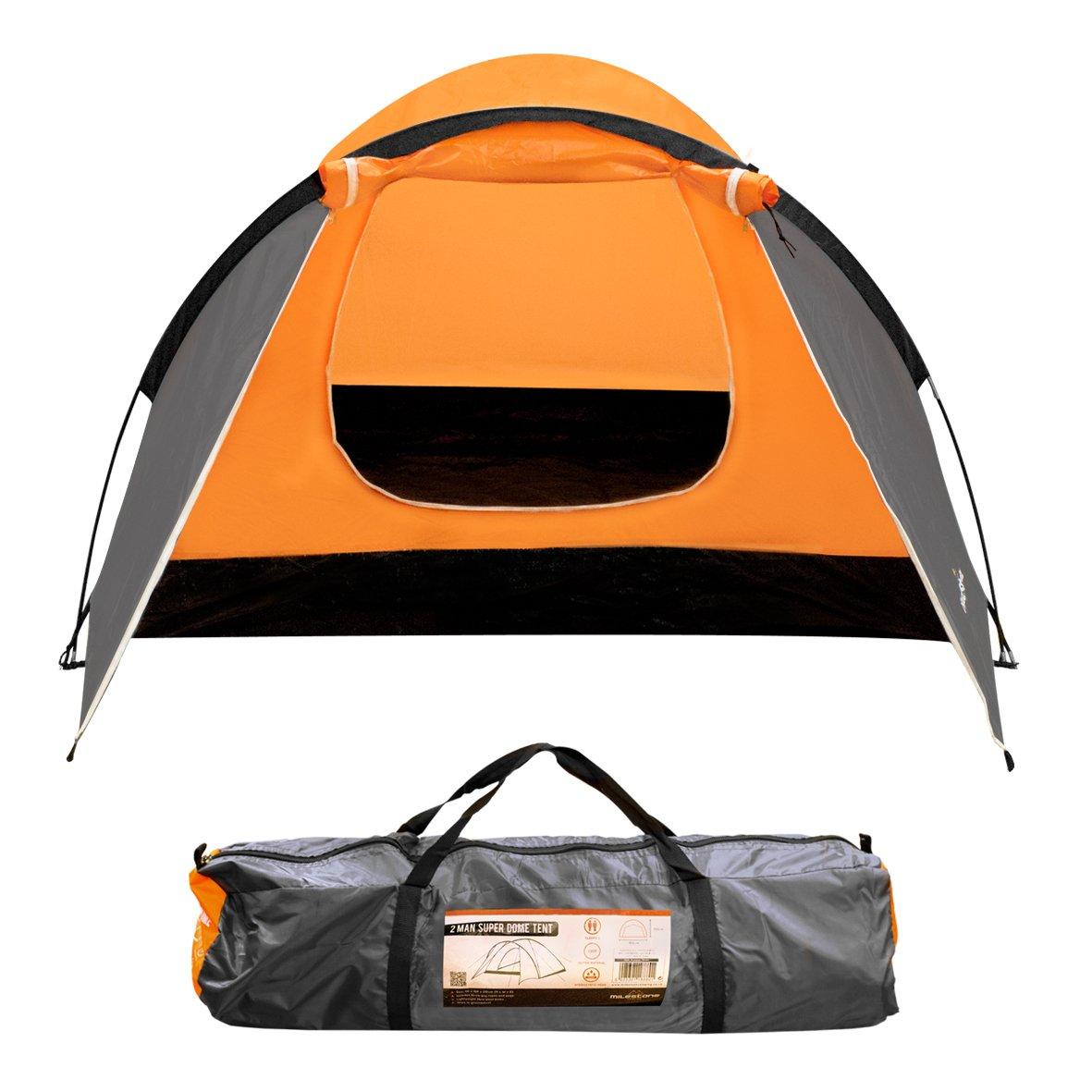 Milestone Camping Tienda súper iglú para dos personas Naranja unknown