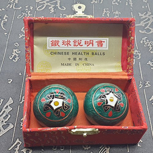 Chinois Traditionnel Ballon De Fitness Décompression Handball Vert Totem 50mm450g