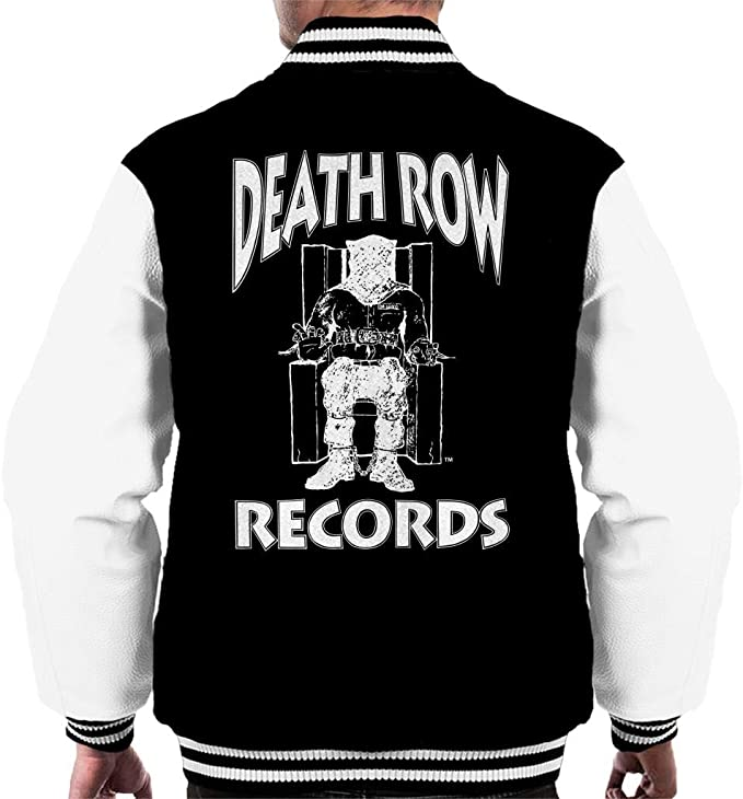 Death Row Records Logo White Mens Varsity Jacket
