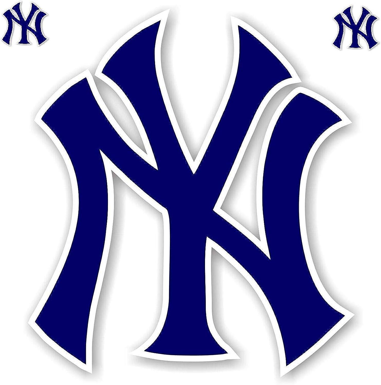 Logo New York Yankee Blue Vinyl Decal //Any Size//Sport Bumper Sticker Indoor/Outdoor
