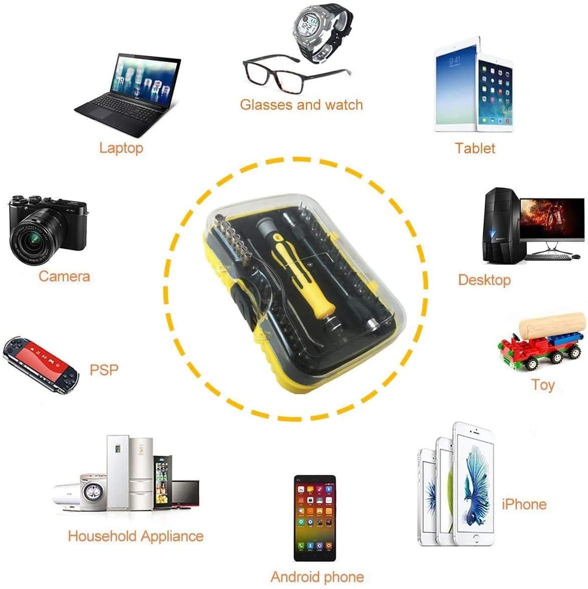 relojes smartphones MacBook tabletas iPad PC gafas con funda Ankier Juego de destornilladores 43 en 1 magn/éticos para reparaci/ón de dispositivos electr/ónicos para iPhone 7 Plus
