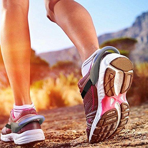Luces para calzado, IWILCS Noche Running Shoe Shoe Gear-Flashing LED Gear Reflective para corredores, basculadores, ciclistas, niños y mascotas (un par) (rojo) Azul