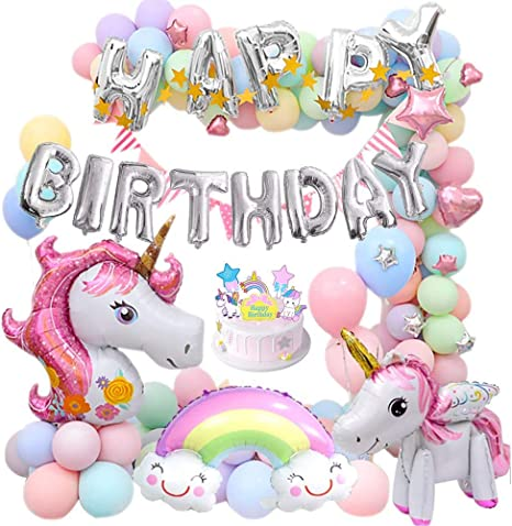 14 Baby Unicorn Balloon White Hot Pink Mini Unicorn Balloon Unicorn Birthday Balloon Baby Unicorn Balloon