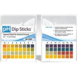 pH Test Strips for Urine and Saliva with 4 testing panels for increased accuracy: pH Dip Sticks (100 Count, Full pH Range from 0 to 14)