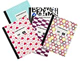 1 Subject Wide Ruled Colorful Composition 100 Page Notebook Pack of 5