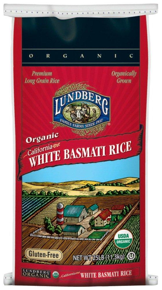 Lundberg Family Farms Organic California White Basmati Rice, 25 Pounds (Packaging May Vary)