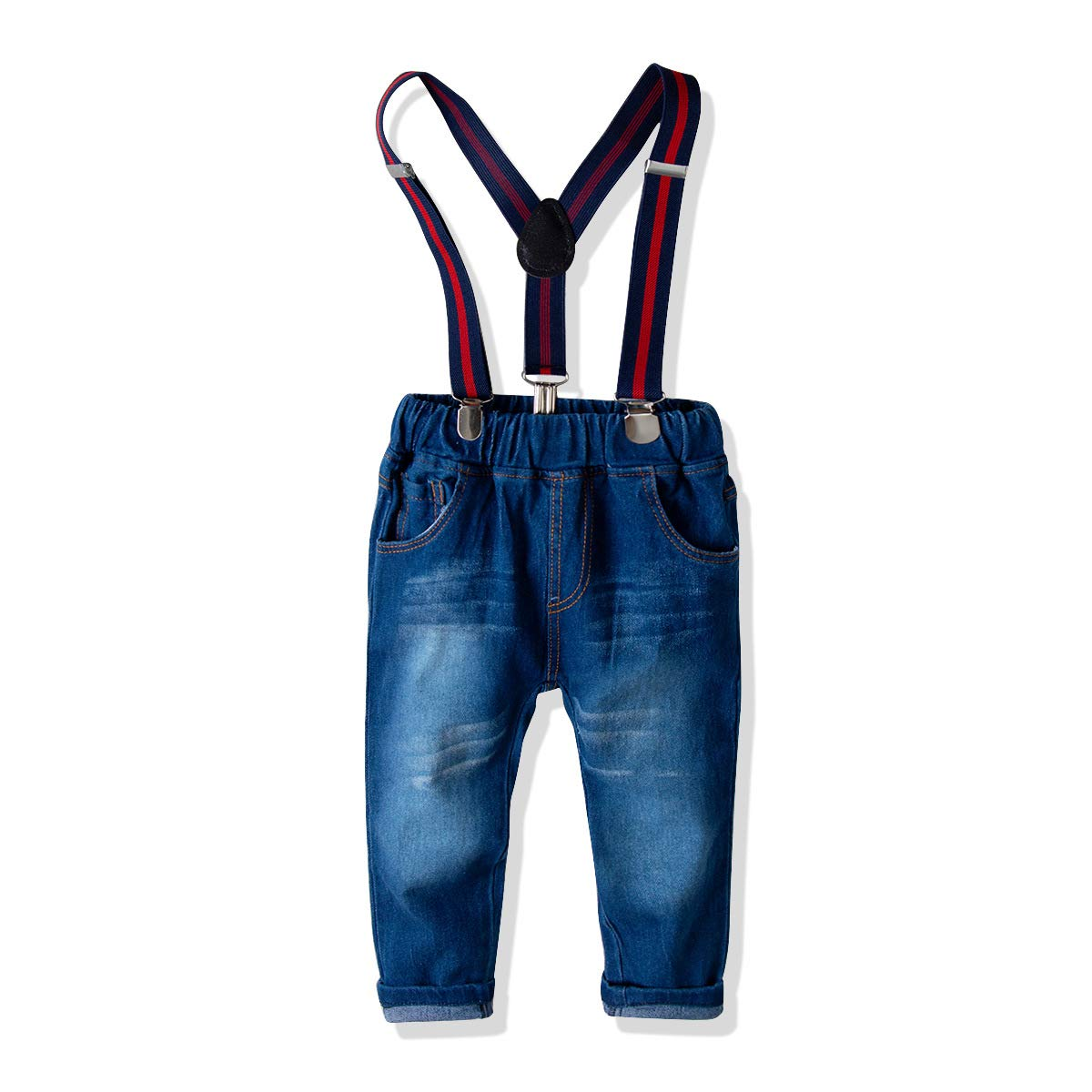 TotMore Little Boys Clothes Sets Bow Ties Shirts and Suspenders Pants